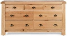 Willis and Gambier Originals Normandy Oak 3+4 Wide Chest of Drawer
