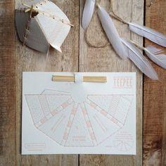 Pop-Out Letterpress Teepee - DIY Paper craft Letterpress Business Cards, Letterpress Printing, Diy Paper, Paper Art, Paper Crafts, Home Crafts, Diy And Crafts, Packaging Design, Branding Design