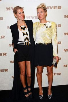SJ & heidi at the MYER show. style icons