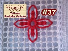 YouTube Blackwork, Couture, Diy And Crafts, Crochet, Hand Embroidery Stitches, Embroidery Stitches, Linen Tablecloth, Ribbon Crafts, Straight Stitch
