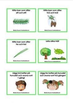 Uppdragskort-Skogen/matematik Maths In Nature, Nature Activities, Craft Activities For Kids, Outdoor Activities, Bingo, Sign Language Book, Learn Swedish, Swedish Language, Minions
