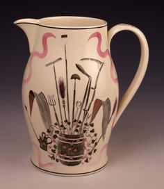 """""""GARDEN"""" design jug by Eric Ravilious for Wedgwood, 1939"""