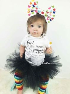 ♥ **The ORIGINAL Girl Definition baby girl bodysuit and toddler girl t shirt. Available in long sleeve and short sleeve bodysuits and short sleeve t-shirts from newborn - 5T.** The perfect gift for every newborn infant baby and toddler girl for birthdays, Christmas and more. Accessories NOT