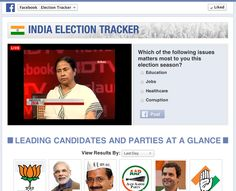Candidates 2014 on Facebook Talks Live on the Indian Elections Tracker