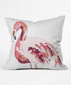 Look what I found on #zulily! Flamingo Scribble Throw Pillow #zulilyfinds