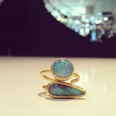 These gorgeous Stephanie Albertson rings are part of our Winter Sale! Don't miss out - it's our last week!! #wintersale #winter #sale #opals #rings #gold #stephaniealbertson #blue #ethiopian #boulder #round #jewelry #instajewels #instagems #luxury #bling #singlestonemissionstreet
