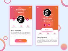App User Profile UI Design #DailyUI006 by Abir Mahmood