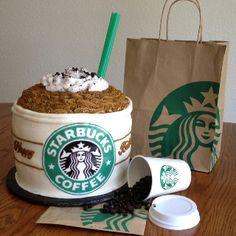 Homemade Starbucks birthday cake!