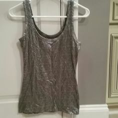 Gold and silver sparkly tank Both gold and silver tank. Great for the holidays. Old Navy Tops Tank Tops