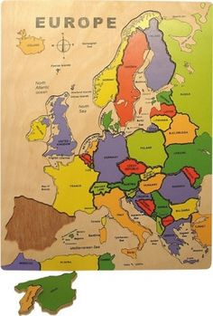 Discover Europe with this inset map jigsaw featuring countries & geographical areas divided into puzzle pieces. An educational European map from BigJigs. Wooden Map, Wooden Jigsaw Puzzles, Wooden Toys, Maps For Kids, Puzzles For Kids, Educational Activities For Kids, Fun Learning, Educational Toys, European Map