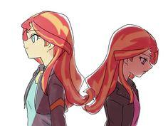 #1071508 - artist:misochikin, equestria girls, pixiv, sad, safe, sunset shimmer - Derpibooru - My Little Pony: Friendship is Magic Imageboard