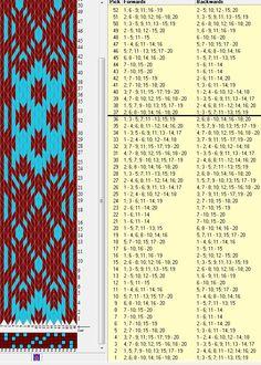 20 tarjetas, 2 colores, repite cada 36 movimientos // sed_472 diseñado en GTT༺❁