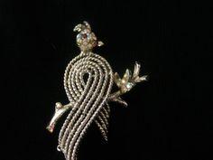 Vintage Bird Jewelry / Cockatiel Jewelry / Bird Brooch / Pin / Cockatiel Brooch / Pin / Signed Jewelry / Vintage Birds / Free Shipping! by TamJewelryandUniques on Etsy