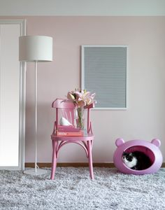 O gatinho também pode fazer parte da decoração! <3 Afinal, quem não ama uma decoração romântica?