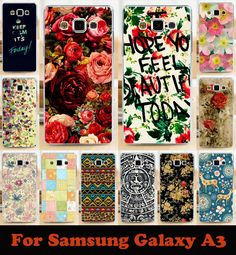 Soft Phone Cases For Samsung Galaxy A3 2014 SM-A300FU A300 A3000 A3009 A300F Cases Rose Poeny Hard Back Cover Skin Housing Bags