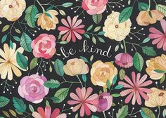 Be Kind Print by anavicky on Etsy