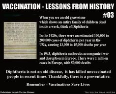 Diphtheria, once a killer of entire families, is now vaccine-preventable.    Credit Refutations to Anti-Vaccine Memes and The Vaccine Meme Machine.