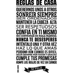 Sticker reglas de casa - stickers Citations Espagnol - ambiance-sticker