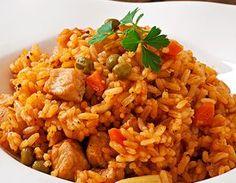 Risoto de arroz integral com frango Receitas Light