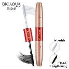 BIOAQUA Double Ended Black + White 3D Fiber Mascara Waterproof Brand New Make up Lash Rimel Curling Eyelash Lengthening Ink