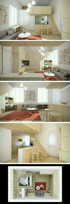 Dormitorios en altillos para espacios peque os dise o de - Diseno de interiores dormitorios pequenos ...