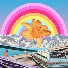 Summer rainbow | Collage art by Karen Lynch.
