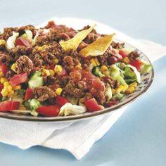 Meksikolainen jauhelihasalaatti | Maku Food N, Good Food, Food And Drink, Cooking Recipes, Healthy Recipes, Food Challenge, Vegetable Sides, Superfood, I Foods