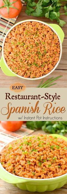 This Easy Spanish Rice is quick to toss together and it��s seasoned with spices- so there's no chopping! Recipe includes Instant-Pot directions as well as stove top! So enjoy some ��restaurant-style�� rice tonight!