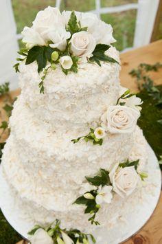 enchanted forest-inspired wedding cake