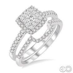 LOVEBRIGHT DIAMOND BRIDAL SET - J Foster Jewelers