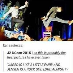 Jared is a fairy while Jensen is a rock god