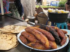 Traditional Guatemalan Christmas Food: Fried Plantains | AntiguaDailyPhoto.Com
