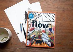 Flow Magazine nous vient des Pays-Bas. Le magazine est arrivé en France en février 2015, et a tout de suite su conquérir son public, largement féminin.