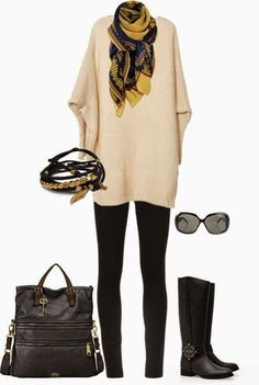 like the oversize sweater with leggings/skinny jeans
