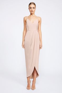 Shona Joy - Core Cocktail Draped Maxi - Ballet