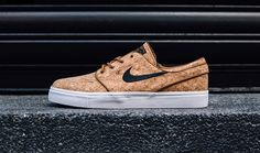 Nike Sb Stefan Janoski 'Cork'- Another Cork release this year! We can't get enough of this fresh colorway and use of materials. One hour to go Stefan Janoski, Nike Sb, Mundo Nike, Cork Fabric, Nike Air Force, Nike Free, Tommy Hilfiger, Sneakers Nike, Stuff To Buy