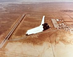 August 12, 1977: The first free flight of the Space Shuttle Enterprise.