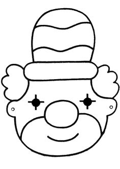 Craft ideas for children, on the theme of carnival. Crafting with the theme ., Craft ideas for children, on the theme of carnival. Crafts with the theme carnival and more themes can be found on this site. Carnival Theme Crafts, Circus Theme, Clowns, Theme Carnaval, Printable Masks, Fall Crafts For Kids, Preschool Art, Business For Kids, Colouring Pages