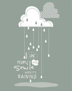 Raining - plakat motywacyjny 40x50