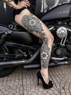 Mandala Full Leg | Best tattoo design ideas