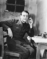 Otto Skorzeny (12 June 1908– 5 July 1975) was an SS-Obersturmbannführer (Lieutenant Colonel) in the German Waffen-SS during World War II. After fighting on the Eastern Front, he was chosen as the field commander to carry out the rescue mission that freed the deposed Italian dictator Benito Mussolini from captivity.[1] Skorzeny was also the leader of Operation Greif, in which German soldiers were to infiltrate through enemy lines, using their opponents' uniforms and customs.