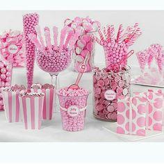 Candy bar todo en rosa