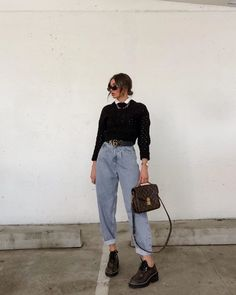 Retro Outfits, Cute Casual Outfits, Stylish Outfits, Vintage Outfits, Simple Outfits, Winter Fashion Outfits, Look Fashion, Winter Outfits, Fashion Women