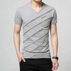 Newest 2018 men's fashion short sleeve Cotton V-neck short-sleeved Tshirt lettersprinted t-shirt Harajuku tee shirts Casual tops Casual Tops, Casual Shirts, Men Casual, Harajuku, Outfit Hombre Casual, Geile T-shirts, Camisa Polo, Polo T Shirts, Men's Fashion