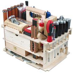 Woodworking Ideas Shed DICTUM Tool Carrier Cabinet making Interior Work Equipped Set Workshop Storage, Workshop Organization, Diy Workshop, Tool Storage, Lumber Storage, Organization Ideas, Wood Tools, Diy Tools, Tool Box Diy