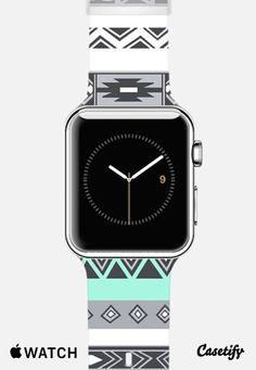 Turquoise Mint Tiffany Boho Aztec Pattern Apple Watch Band case by Rex Lambo | Casetify