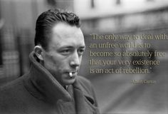 Albert Camus on what does being Free really means. - Imgur
