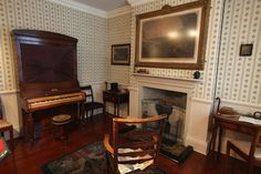 Mr Bronte's study in the Bronte Parsonage Museum on February 8, 2012 in Haworth, England.