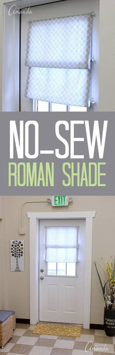 How to make a no sew Roman shade for your window or door. This one & Brilliant D.I.Y. Magnetic Curtain! | Curtain tutorial Window and ... Pezcame.Com