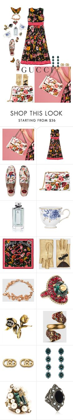 """""""Presenting the Gucci Garden Exclusive Collection: Contest Entry"""" by liza285066 ❤ liked on Polyvore featuring Gucci, Lenox and gucci"""